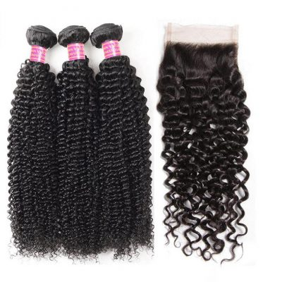 curly-hair-3-bundles with closure1