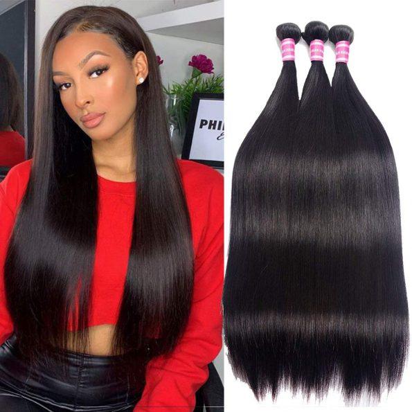 Straight Human Hair Bundles-1