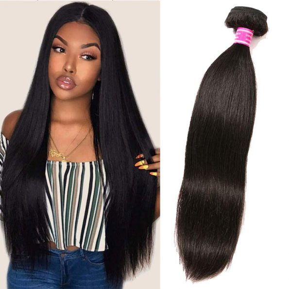 VGIRL Mink Brazilian Hair One Bundle 12 Inch Straight Human Hair Bundle 100% Unprocessed Human Hair Natural Color-0